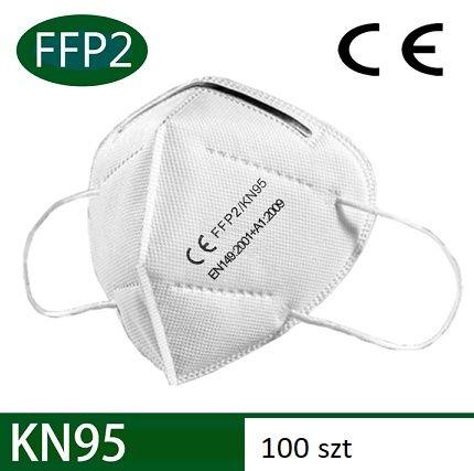 Maski KN95 FFP2 wielokrotnego użytku 10szt.