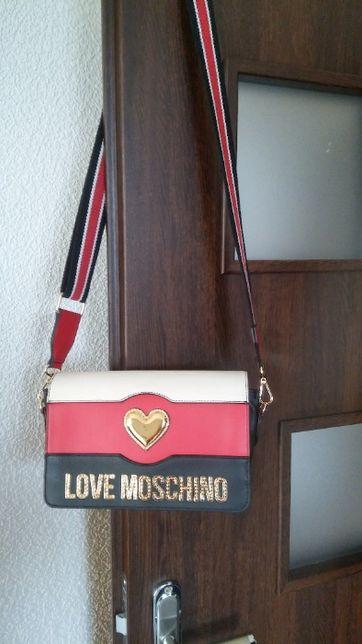 Torebka oryginalna Love Moschino skóra naturalna