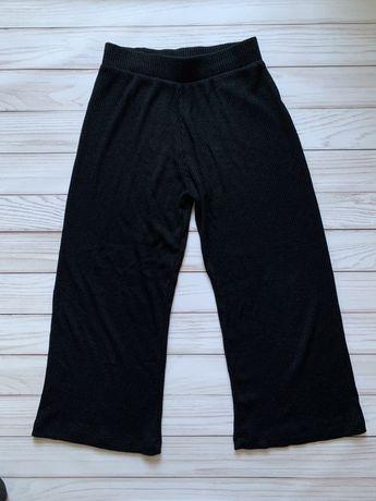 Кюлоты черные в рубчик XS брюки New Yorker Amisu