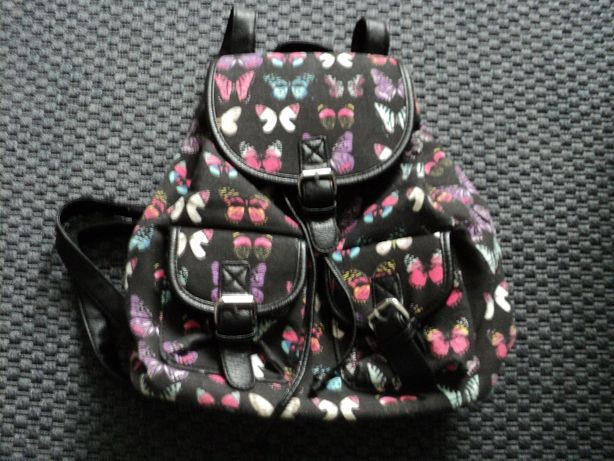 Plecak młodzieżowy, motyle