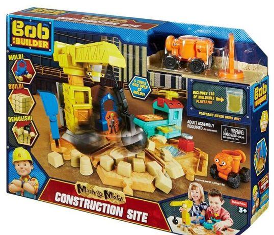 Bob budowniczy plac budowy z piaskiem kinetycznym Nowy zestaw Fisher-P