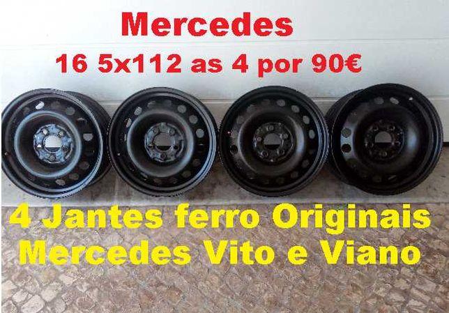 4 Jantes Ferro Originais Mercedes Vito 16 furação 5x112 ET52