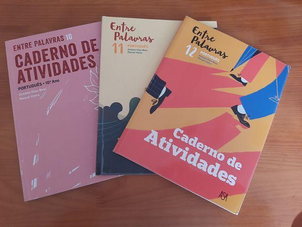 Cadernos de atividades de português de 10, 11 e 12 ano