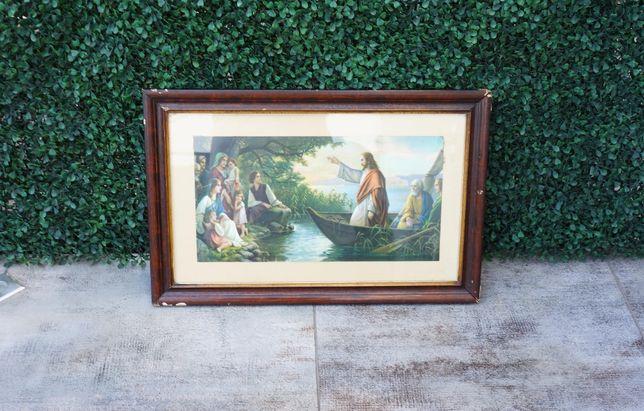 Pan Jezus na łodzi - obraz religijny