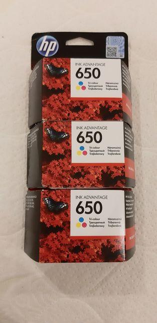 Tusz 650 kolorowy 3 sztuki