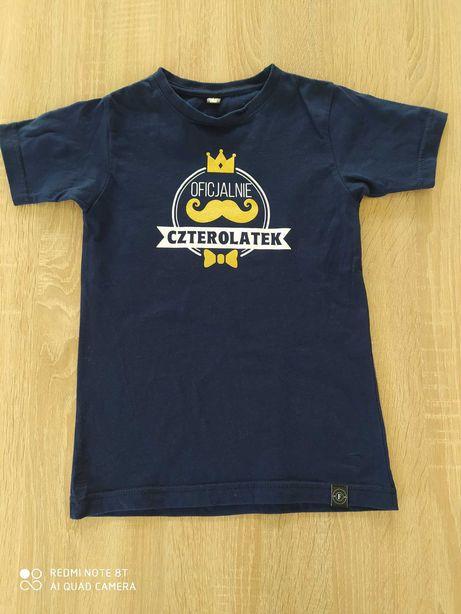 T-shirt koszulka czterolatek urodziny