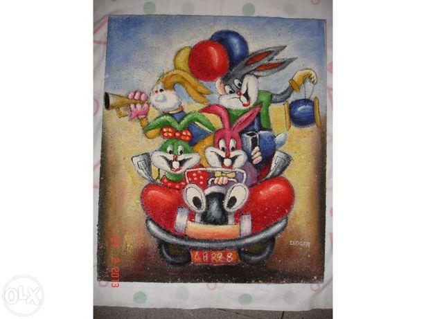 Quadros em tela pintados a óleo