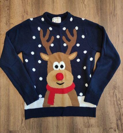 Sweter świąteczny renifer XS S