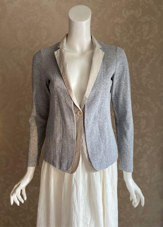 Peserico Италия трикотажный серый пиджак кардиган Brunello Fabiana