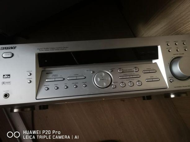 Amplituner Sony, subwoofer, głośniki jako kino domowe, sprawne,