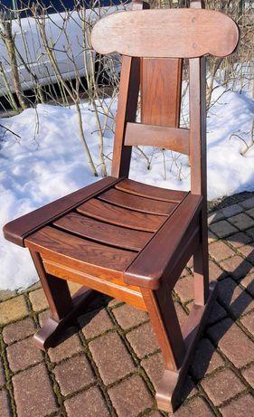 Ciężkie i solidne krzesła holenderskie - lite drewno
