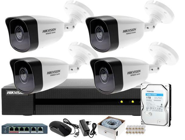 Zestaw Kamer Hikvision Dahua BCS Solarne Kamery Montaż Monitoring domu