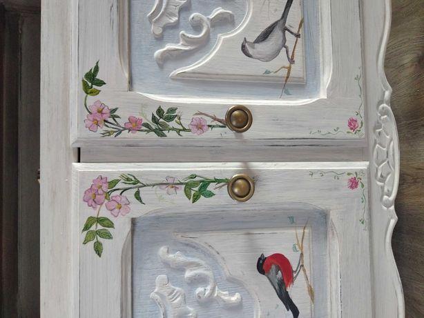 Szafka biała stylowa malowana