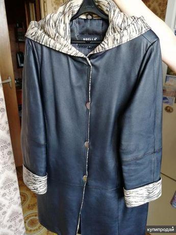 Кожаное пальто бу