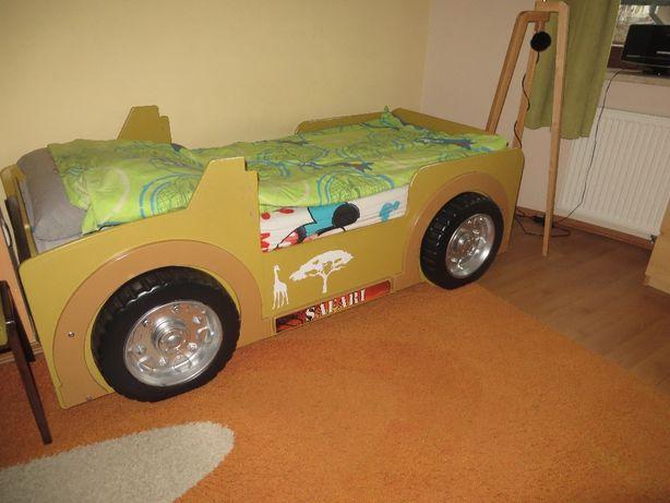 Łóżko dziecięce jeep safari z materacem i stelażem