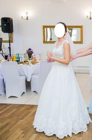 Suknia ślubna rozm. 36/38 krój litery A, model Glamour Łódź