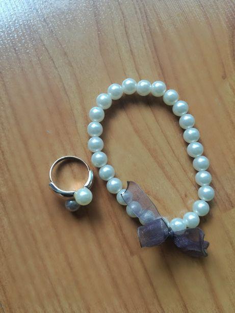 Zestaw bransoletka pierścionek