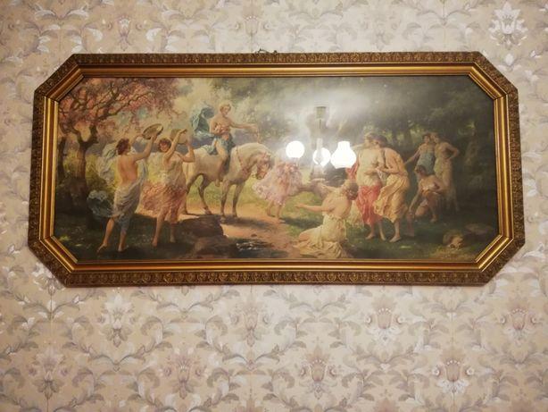 Obraz, rama drewniana, złota antyk, rama do obrazu