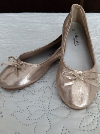 NOWE śliczne złote baletki / balerinki