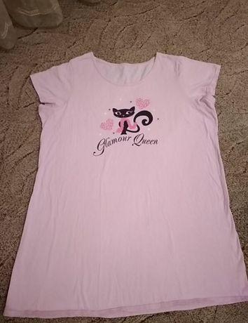 Розовая ночнушка с котиком
