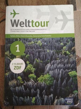 """Niemiecki """"Welttour 1"""" podręcznik z ćwiczeniami NIE WYSYLAM"""