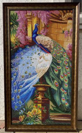 Продам картину Ручной работы «Величні Павичі» с Ческого бисера