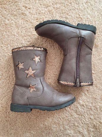 Сапоги ботинки демисезонные M&S kids на девочку 7(24 размер)