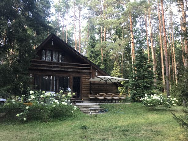 Działka nad Bugiem, Popowo Parcele, dom z bala, 55 minut z Mokotowa