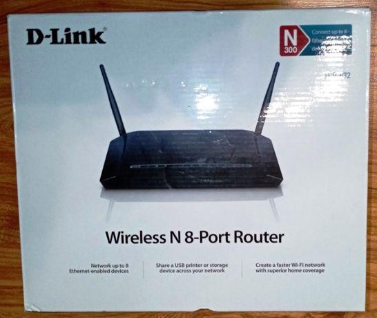Wi-Fi роутер D-link DIR632 с USB (8 портов)