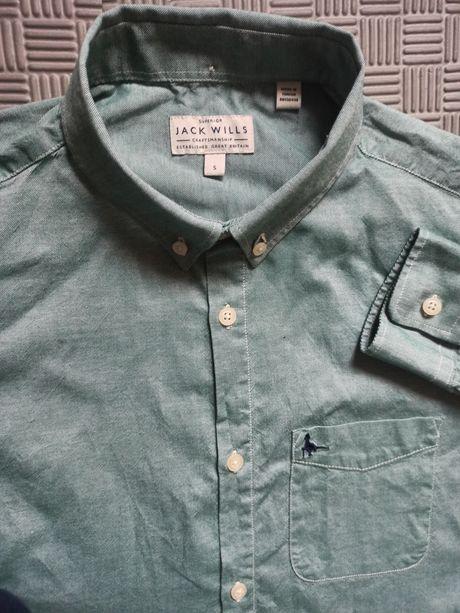 Koszula Jack Wills S męska zielona stan idealny święta świąteczna