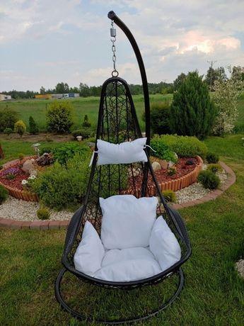 Huśtawka fotel wiszący rączki kosz kokon