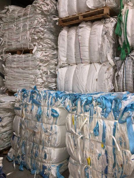 mocne worki typu BIG BAG używane czyste 103/103/131 cm z lejkami