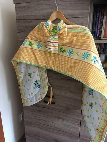Ochraniacz na łóżeczko, szczebelki wiosenne kolory - 150 cm długości