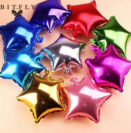 Звезды фольгированные шары 13 см звездочки из фольги шарики для декора