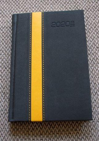 Kalendarz 2020 jako notatnik, format A6, szary z pasem