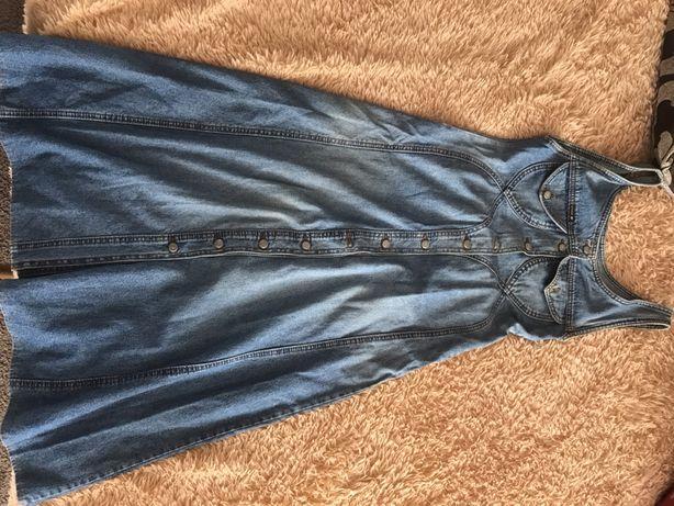 Безкоштовно джинсовий сарафан