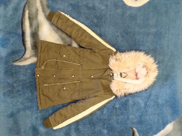 куртка парка на девочку. рост 100-116 см.