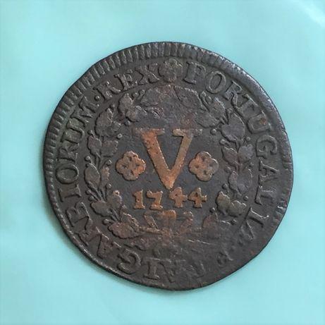 V (5) réis 1744 - D. João V