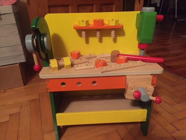 warsztat drewniany do zabawy dla dzieci,stan bardzo dobry