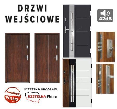 Drzwi wejściowe antywłamaniowe do mieszkania - domu z montażem