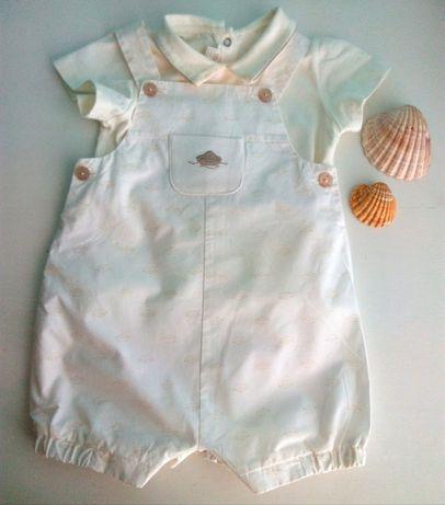 Conjunto camisola e jardineira, da Mayoral, 4-6 meses, 70 cm