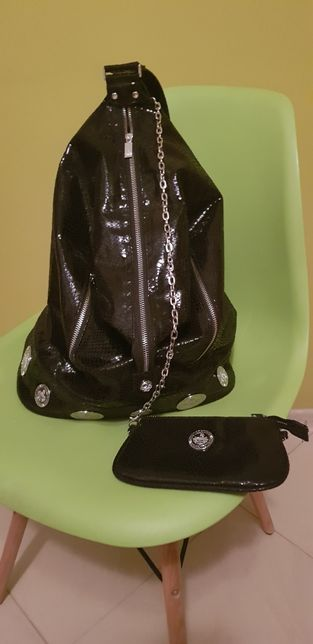 Torebko-plecak z doczepianym portfelem