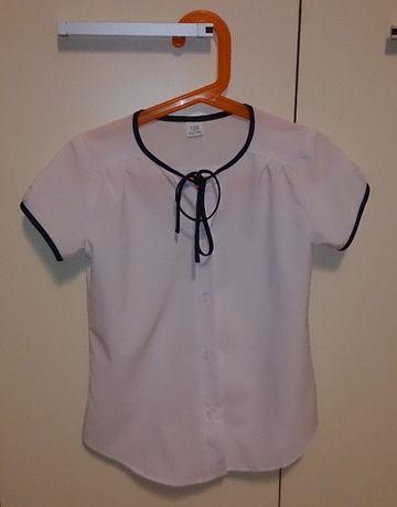 bluzka biała elegancka rozmiar 122 na różne uroczyste okazje