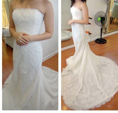Sprzedam suknię ślubną, hiszpańska koronka, rozmiar 36-38.