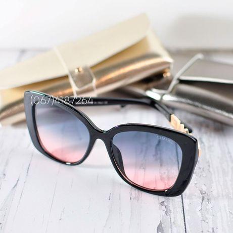 Солнцезащитные очки Шанель/Chanel с градиентными линзами 6917