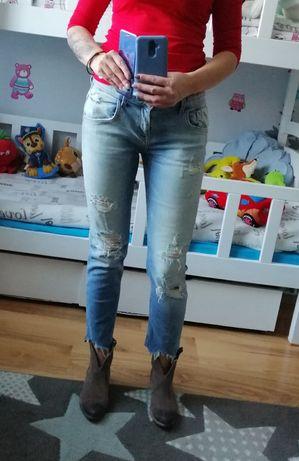 Spodnie jeans Zara 38