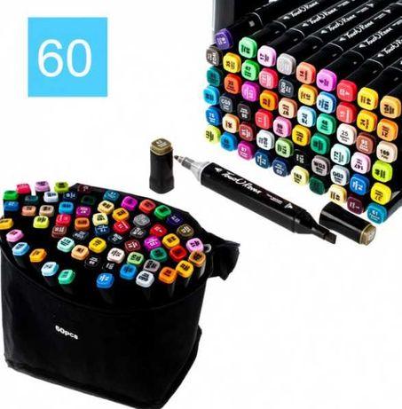 Набор маркеров для скетчинга, 60 цветов, спиртовые