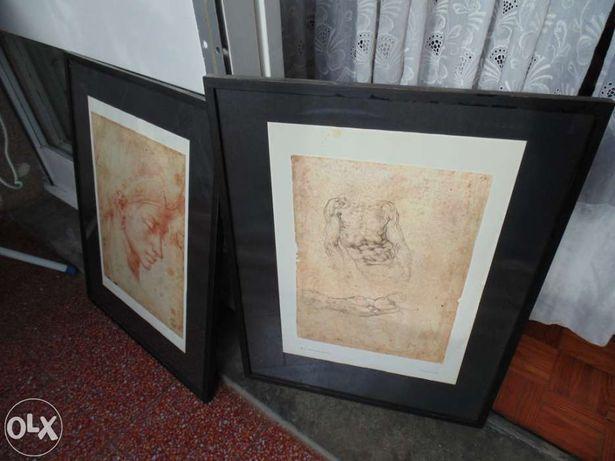 2 Quadros reproduções Michelangelo