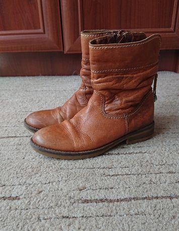 Стильные ботинки, кожа, демисезонные, цвет кэмел р.36