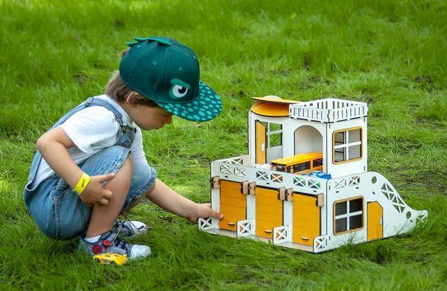 Парковка для машинок Двухэтажный детский гараж. ПОДАРОК - машинки!